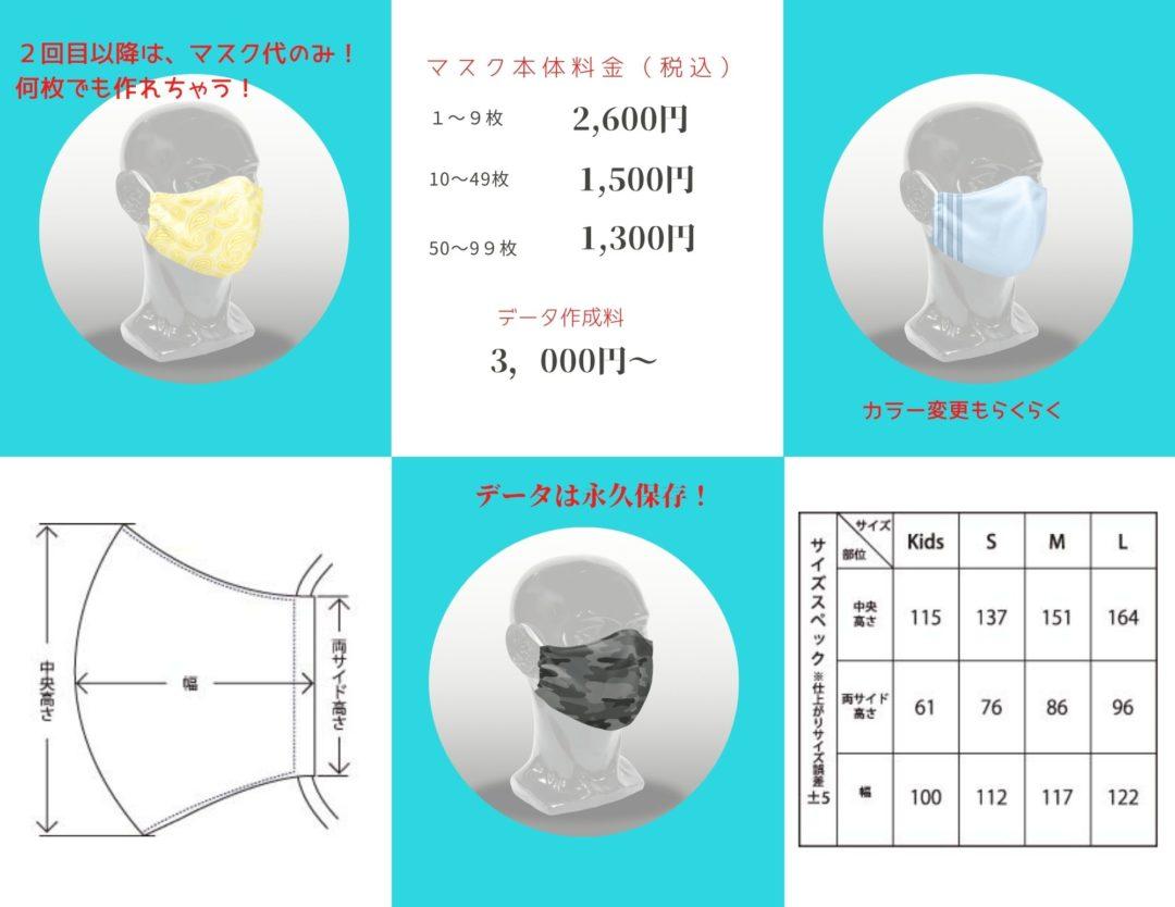 フルグラフィックデザインマスク